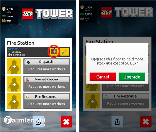 play lego tower for every player
