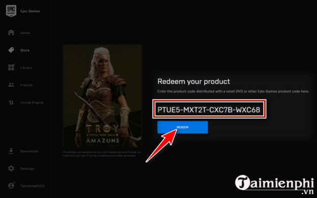 how to redeem code on epic games 3