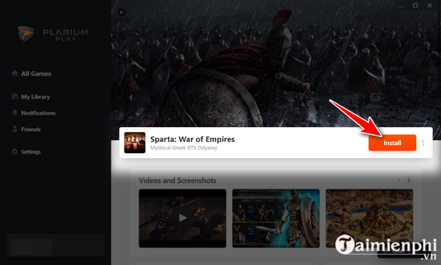 how to install sparta war of empires game