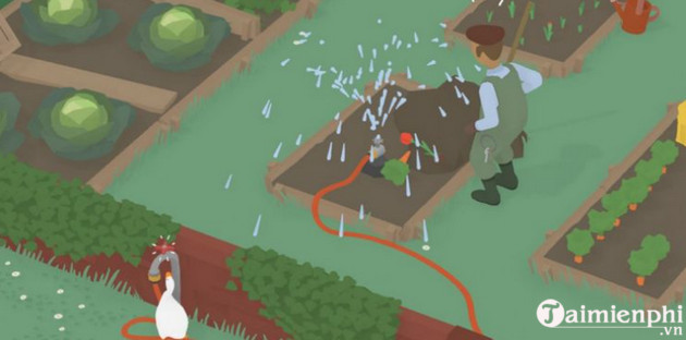 how to go through the garden in untitled goose game 3