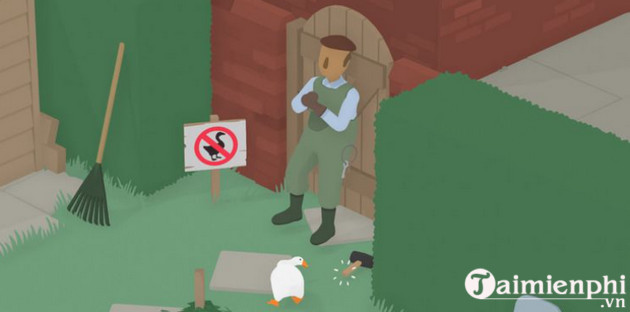 how to go through the garden in untitled goose game 8