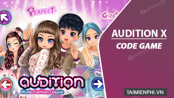 audition code x