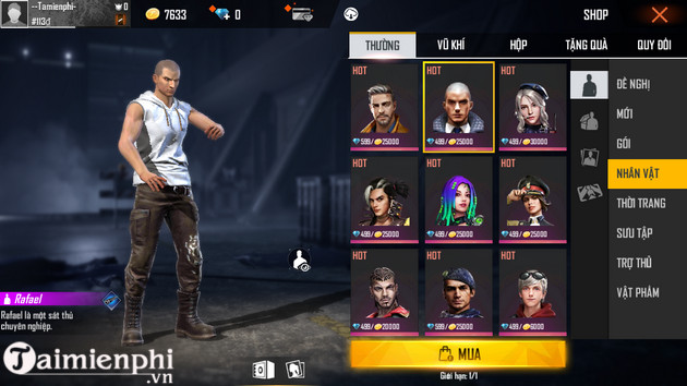 Register for free fire and use 3