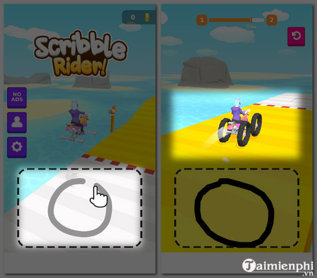 guide and play scribble rider 2 game
