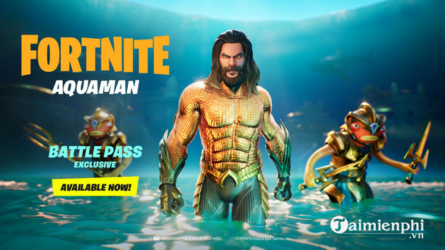 Aquaman has conquered the world of fortnite