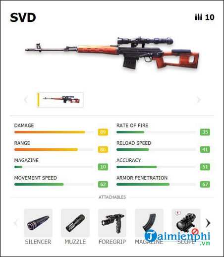 How can I play dragunov svd in free fire?