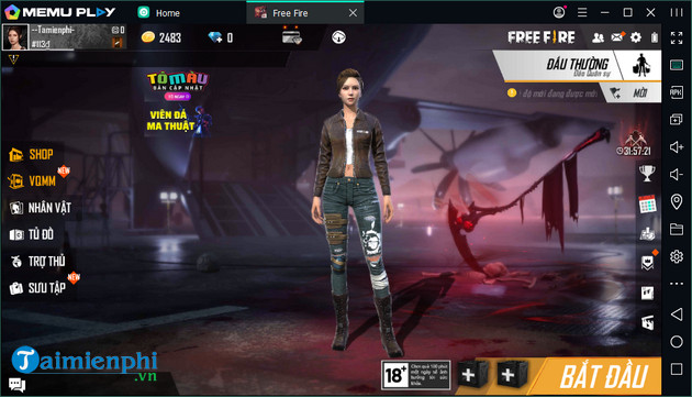 how to play free fire on pc bang gia lap android memu 9