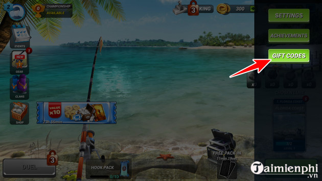 how to enter fishing clash code