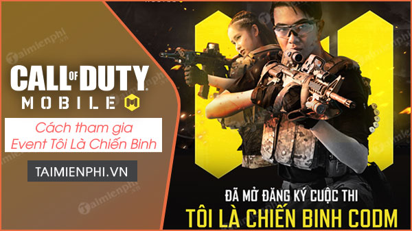 Huong Dan participates in the event I am a call of duty mobile vn